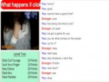 Omegle Girl Kristen Plays Game & CUMS